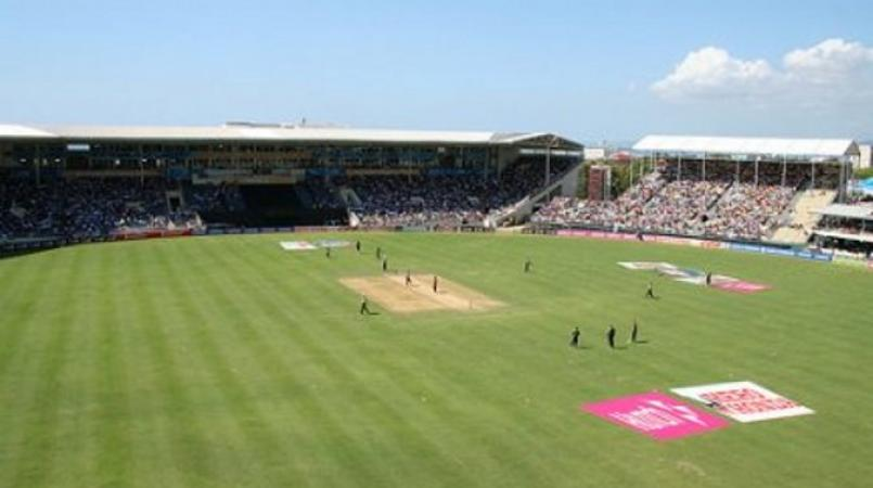 test match sabina park Disgraceful stuff so many crazy deliveries, so many injuries the only time i've ever felt sorry for the bloody poms.